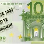 Wie betaalt eenmalige uitkering 1000 euro uit cao?