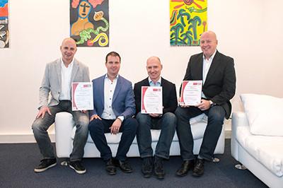 Vlnr: Gert Jr. en Jeroen Rothert, Dennis van der Pol en Armin Kleiss. (Foto: Giuseppe Toppers | Danto).