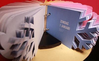 An-Sofie Keulen en Delphine Maene van Arteveldehogeschool in Gent wonnen met de innovatieve Seizoenskalender.