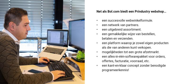 Webwinkels Bol.com en Prindustry